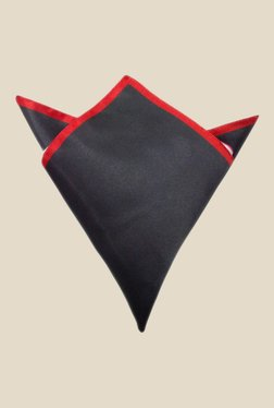 Blacksmith Black And Red Satin Pocket Square
