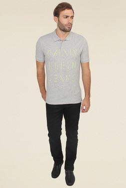 Calvin Klein Grey Printed T-Shirt