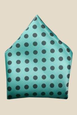 Blacksmith Sea Green Polka Dots Printed Pocket Square