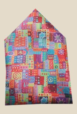 Blacksmith Multicolour Abstract Design Satin Pocket Square