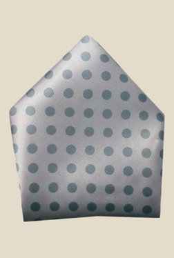 Blacksmith Grey Polka Dots Printed Satin Pocket Square