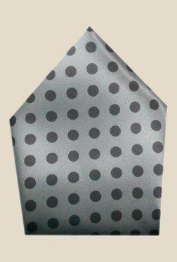 Blacksmith Grey Polka Dots Printed Satin Pocket Square