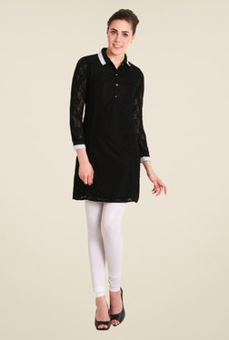 Soie Black Lace Tunic
