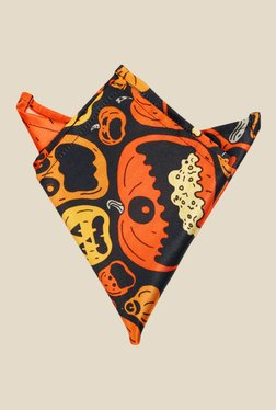 Blacksmith Orange Pumpkins Printed Satin Pocket Square