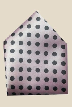 Blacksmith Pink Polka Dots Printed Satin Pocket Square