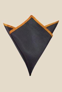 Blacksmith Black And Orange Satin Pocket Square