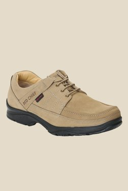 Red Chief Beige Derby Shoes