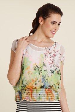 Soie Multicolor Floral Print Top