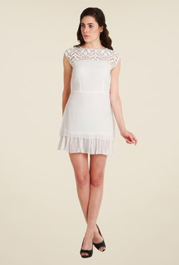 Soie Off White Lace Tunic