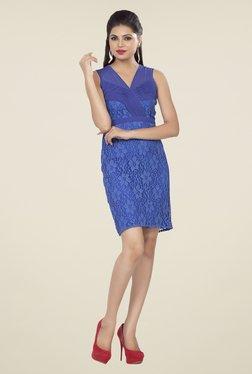 Soie Blue Lace Dress - Mp000000000791041