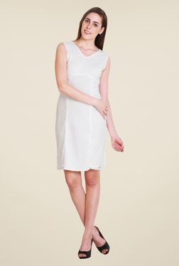 Soie Off White Lace Dress - Mp000000000790304