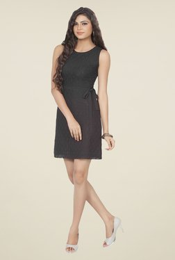 Soie Black Lace Dress - Mp000000000790767