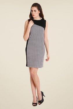 Soie Black & White Printed Dress