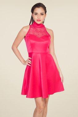 Soie Pink Lace Dress