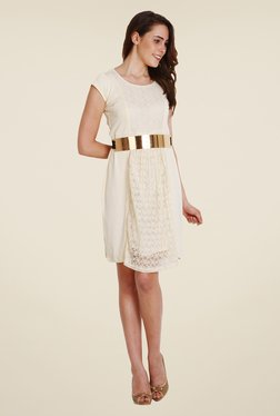 Soie Off White Lace Dress - Mp000000000790151