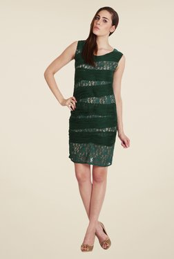 Soie Green Lace Dress