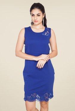 Soie Blue Lace Dress