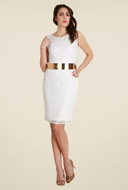 Soie Off White Lace Dress