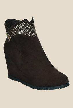 Kielz Brown Wedge Heeled Booties - Mp000000000789971