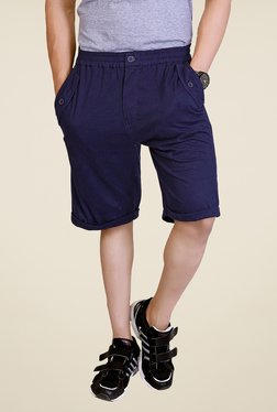 Lucfashion Navy Solid Shorts - Mp000000000791488