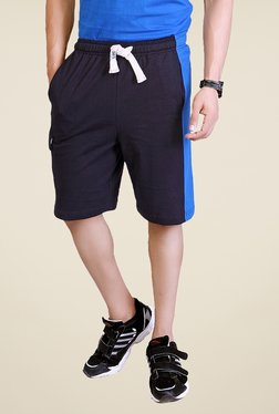 Lucfashion Navy Solid Shorts