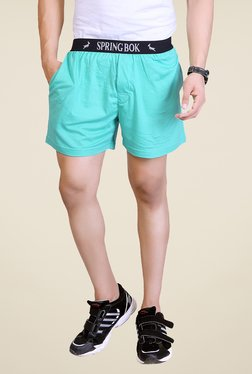 Lucfashion Light Blue Solid Shorts