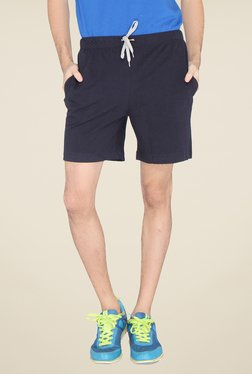Lucfashion Navy Solid Shorts - Mp000000000791881