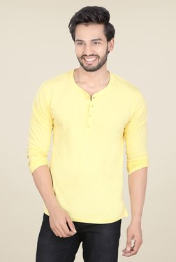 Lucfashion Yellow Solid T Shirt