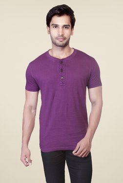 Lucfashion Purple Solid T Shirt