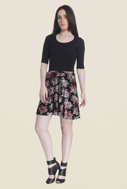 Vero Moda Black Floral Print Skirt