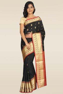 Pavecha Black Kanjivaram Saree
