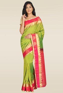 Pavecha Green Kanjivaram Saree