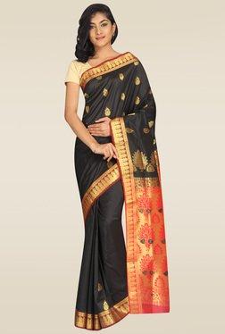 Pavecha Black Kanjivaram Silk Saree