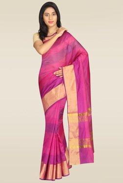 Pavecha Pink Banarasi Silk Saree