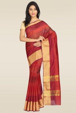 Pavecha Maroon Banarasi Silk Saree