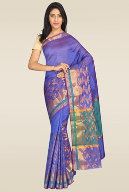 Pavecha Purple Banarasi Silk Saree