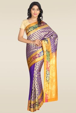 Pavecha Purple Cotton Silk Saree