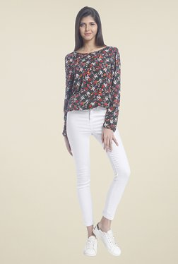 Vero Moda Black Floral Print Top - Mp000000000796118