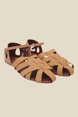 La'Mysha Brown Ankle Strap Sandals