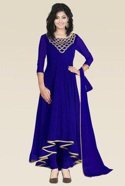 Ethnic Basket Royal Blue Semi Stitched Anarkali