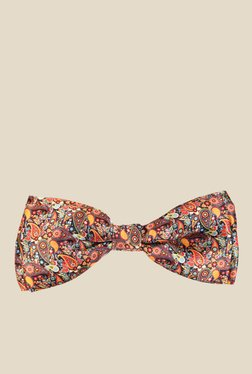 Blacksmith Multicoloured Paisley Design Satin Bow Tie