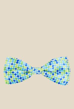 Blacksmith Green And Blue Polka Dotted Satin Bow Tie