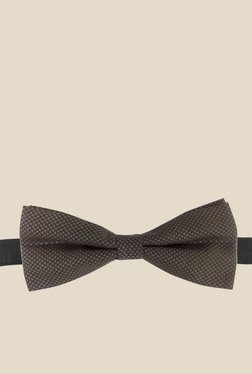 Blacksmith Charcoal Grey Charcoal Grey Printed Bow Tie