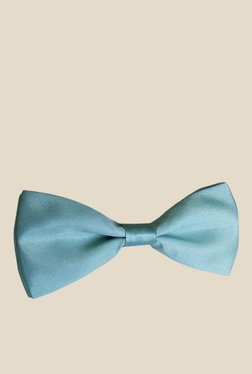 Blacksmith Cool Blue Solid Satin Bow Tie