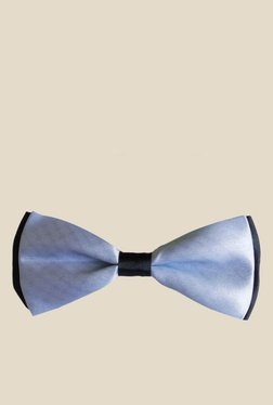 Blacksmith Sky Blue Solid Satin Bow Tie