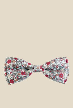 Blacksmith Multicoloured Intricate Floral Design Bow Tie