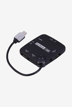 Microware Card Reader Plus HUB USB C Type Cable (Black)