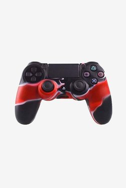 Microware Controller Sleeve Skin Cover For PS4 (Red)