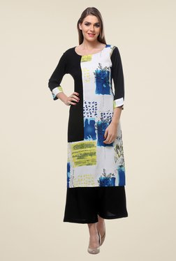 Varanga Black Printed Kurta With Palazzo - Mp000000000806538