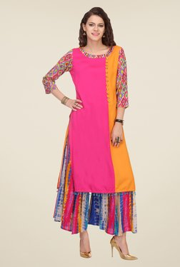 Varanga Pink Solid Kurta With Palazzo - Mp000000000804226